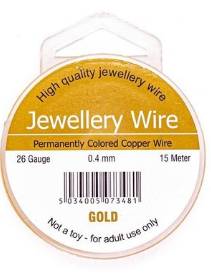 Jewellery wire gold 0.4mm - 15mt