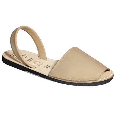 womeen's Avarcas sandals in sand color, Avarcas in USA, outlet and discount menorcan shoes