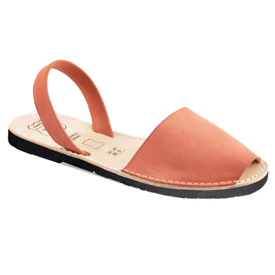 Avarcas Classic Coral Suede-Avarcas 101 comfortable leather sandals for women in the USA