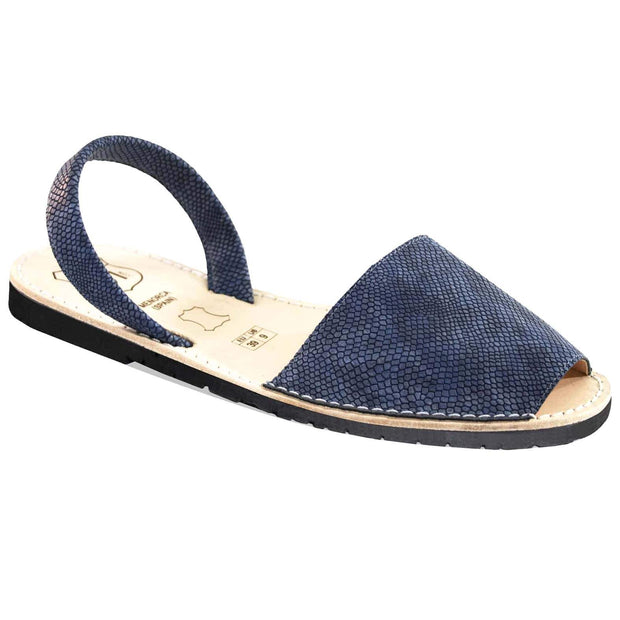 Avarcas 101 sandals for women Blue Piton / US 4.5-5 / EU 35 sustainable shoes in the US