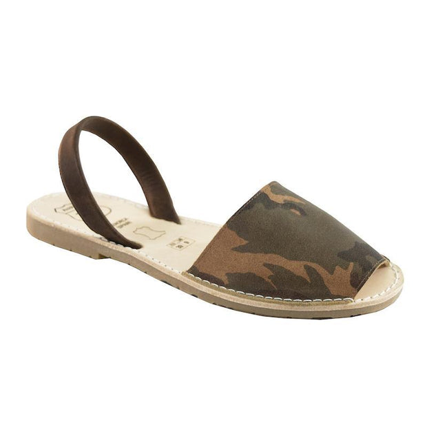 Avarcas 101 sandals for women Camouflage / US 4.5-5 / EU 35 sustainable shoes in the US
