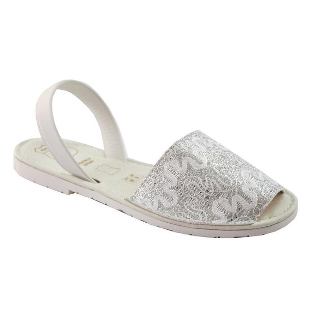 Avarcas 101 sandals for women Silver Textured / US 4.5-5 / EU 35 sustainable shoes in the US