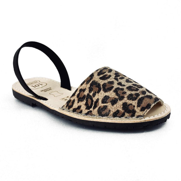 Avarcas 101 sandals for women Leopard / US 4.5-5 / EU 35 sustainable shoes in the US