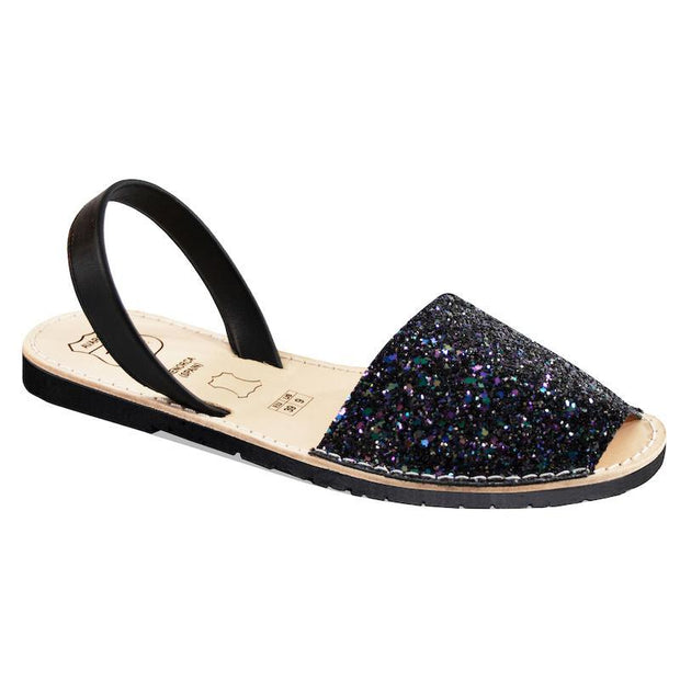 Avarcas 101 sandals for women Black Glitter / US 4.5-5 / EU 35 sustainable shoes in the US