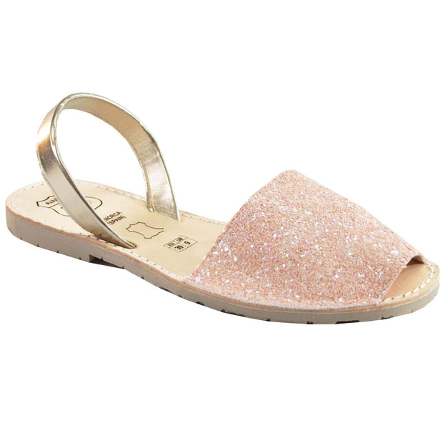 Avarcas 101 sandals for women Pink Glitter / US 4.5-5 / EU 35 sustainable shoes in the US