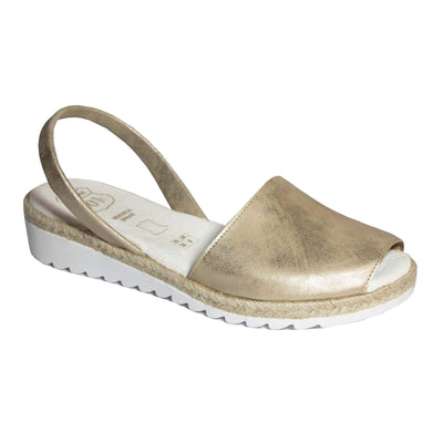 Padded Footbed Wedges Metallic Gold - Buy Avarca Sandals and Ethical Jewelry Online!