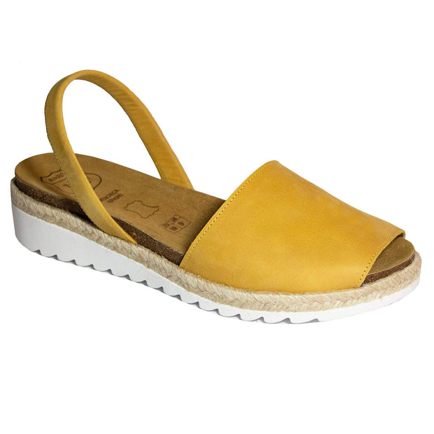 Avarcas 101 sandals for women Mustard / US 4.5-5 / EU 35 sustainable shoes in the US