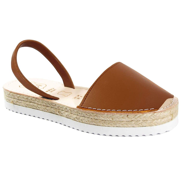 Avarcas 101 sandals for women Brown / US 4.5-5 / EU 35 sustainable shoes in the US