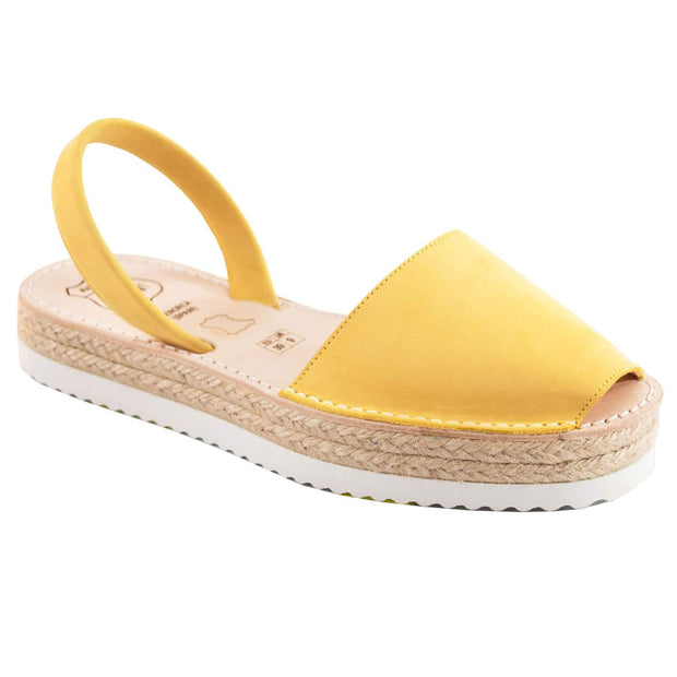 Avarcas Banana Suede Flatforms - Buy Avarca Sandals and Ethical Jewelry Online!