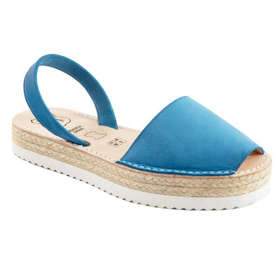 Avarcas Azure Blue Suede Flatforms - Buy Avarca Sandals and Ethical Jewelry Online!