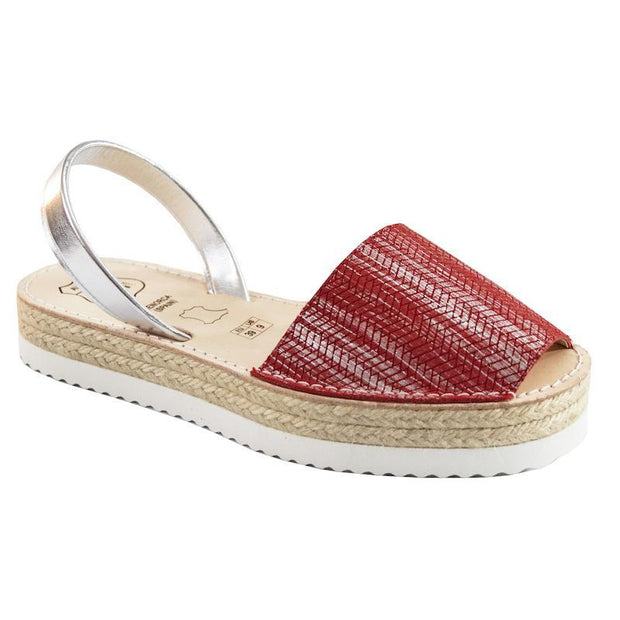Avarcas 101 sandals for women Red Textured / US 4.5-5 / EU 35 sustainable shoes in the US