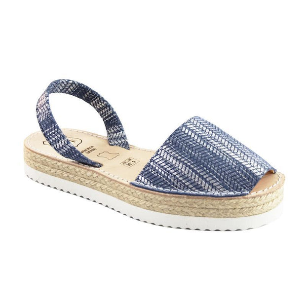 Avarcas 101 sandals for women Blue Textured / US 4.5-5 / EU 35 sustainable shoes in the US