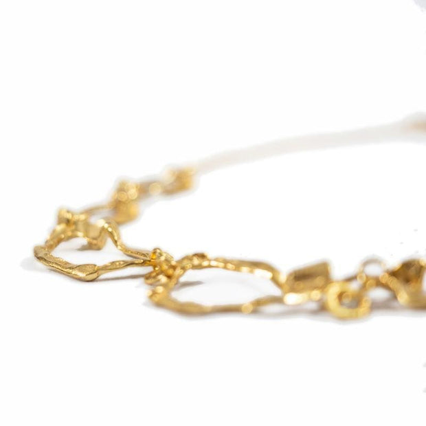 24K Gold Plated Necklace for Women - Hops Collection - Buy Avarca Sandals and Ethical Jewelry Online!