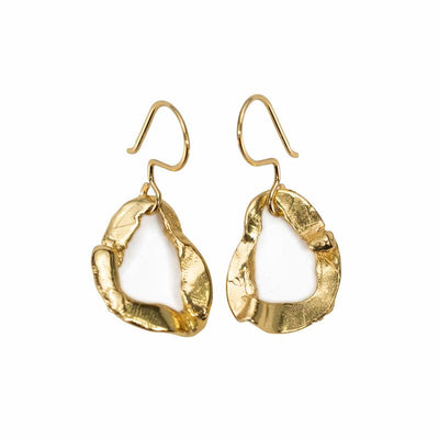 24K Gold Plated Earrings for Women - Hops Collection - Buy Avarca Sandals and Ethical Jewelry Online!