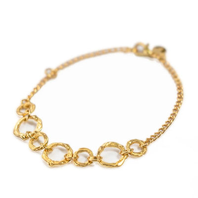 24K Gold Dipped Bracelet for Women - Hoops Collection-[SLOW JEWELRY]-Avarcas 101