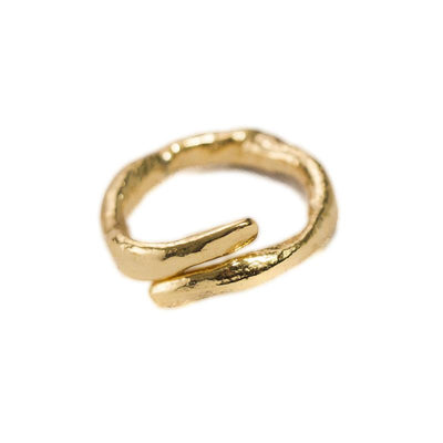 24K Gold Plated Statement Ring for Women - Drops Collection - Buy Avarca Sandals and Ethical Jewelry Online!