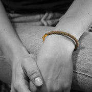 24K Gold Plated Cord Bracelet for Women - Essential Collection - Buy Avarca Sandals and Ethical Jewelry Online!