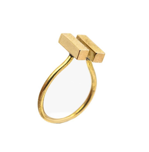 24K Gold Plated Statement Ring for Women - Essential Collection - Buy Avarca Sandals and Ethical Jewelry Online!