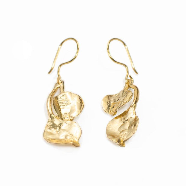 24K Gold Plated Earrings for Women - Nature Collection - Buy Avarca Sandals and Ethical Jewelry Online!