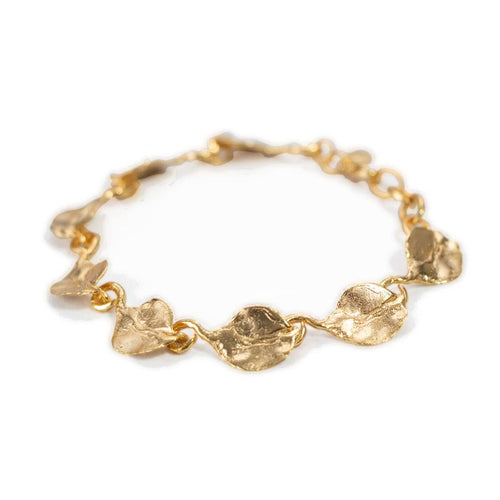 24K Gold Plated Bracelet for Women - Nature Collection - Buy Avarca Sandals and Ethical Jewelry Online!