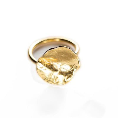 24K Gold Plated Statement Ring for Women - Nature Collection - Buy Avarca Sandals and Ethical Jewelry Online!