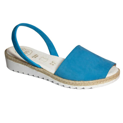 Padded Footbed Wedges Azure Blue - Buy Avarca Sandals and Ethical Jewelry Online!
