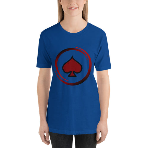 All In Poker Academy Blue Short-Sleeve Women's T-Shirt