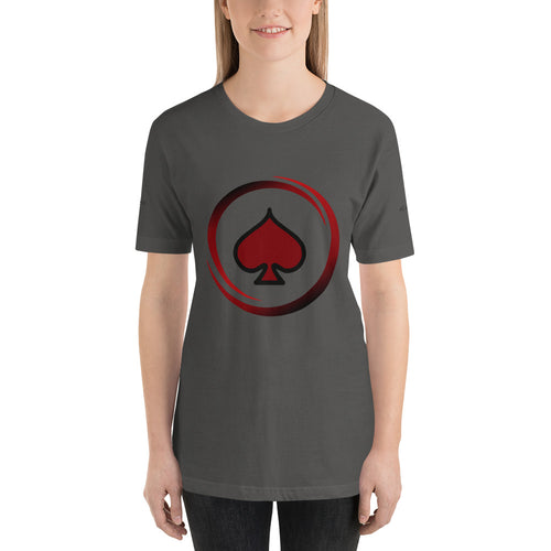 All In Poker Academy Grey Short-Sleeve Women's T-Shirt