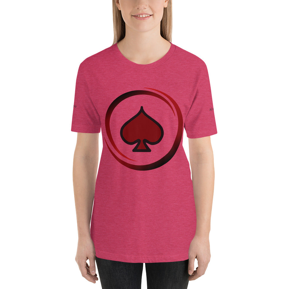 All In Poker Academy Pink Short-Sleeve Women's T-Shirt