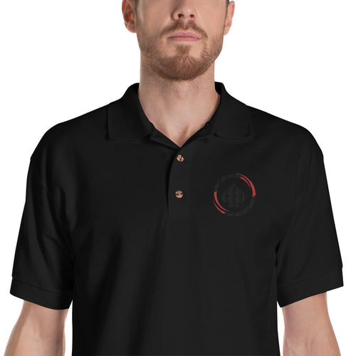 All In Poker Black Embroidered Polo Shirt