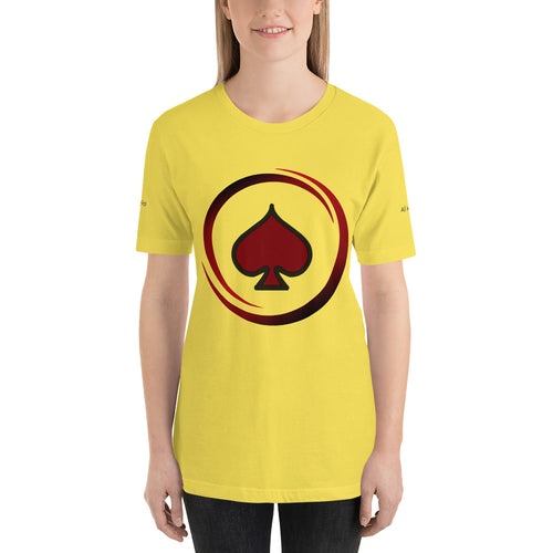 All In Poker Academy Yellow Short-Sleeve Women's T-Shirt