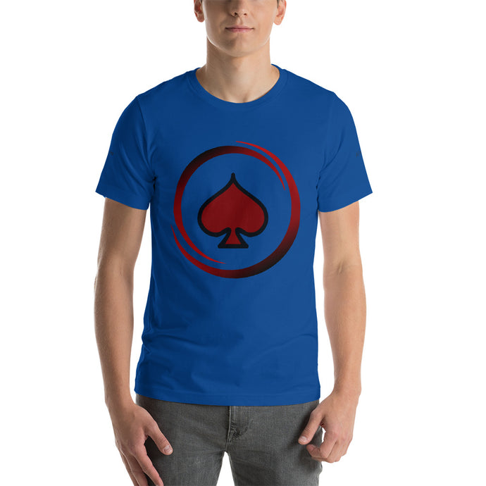 All In Poker Academy Blue Short-Sleeve Men's T-Shirt