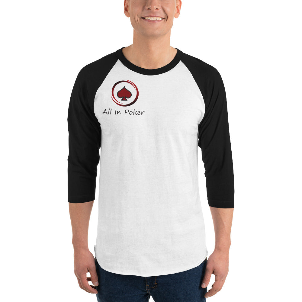 All In Poker Academy Baseball Shirt