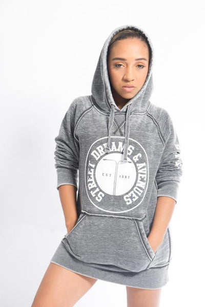 Street Dreams And Avenues Grey Hoodie
