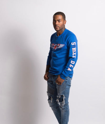 Street D&A Red/White Royal Crewneck Sweater