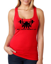 GET YOUR WEIGHT UP RACERBACK