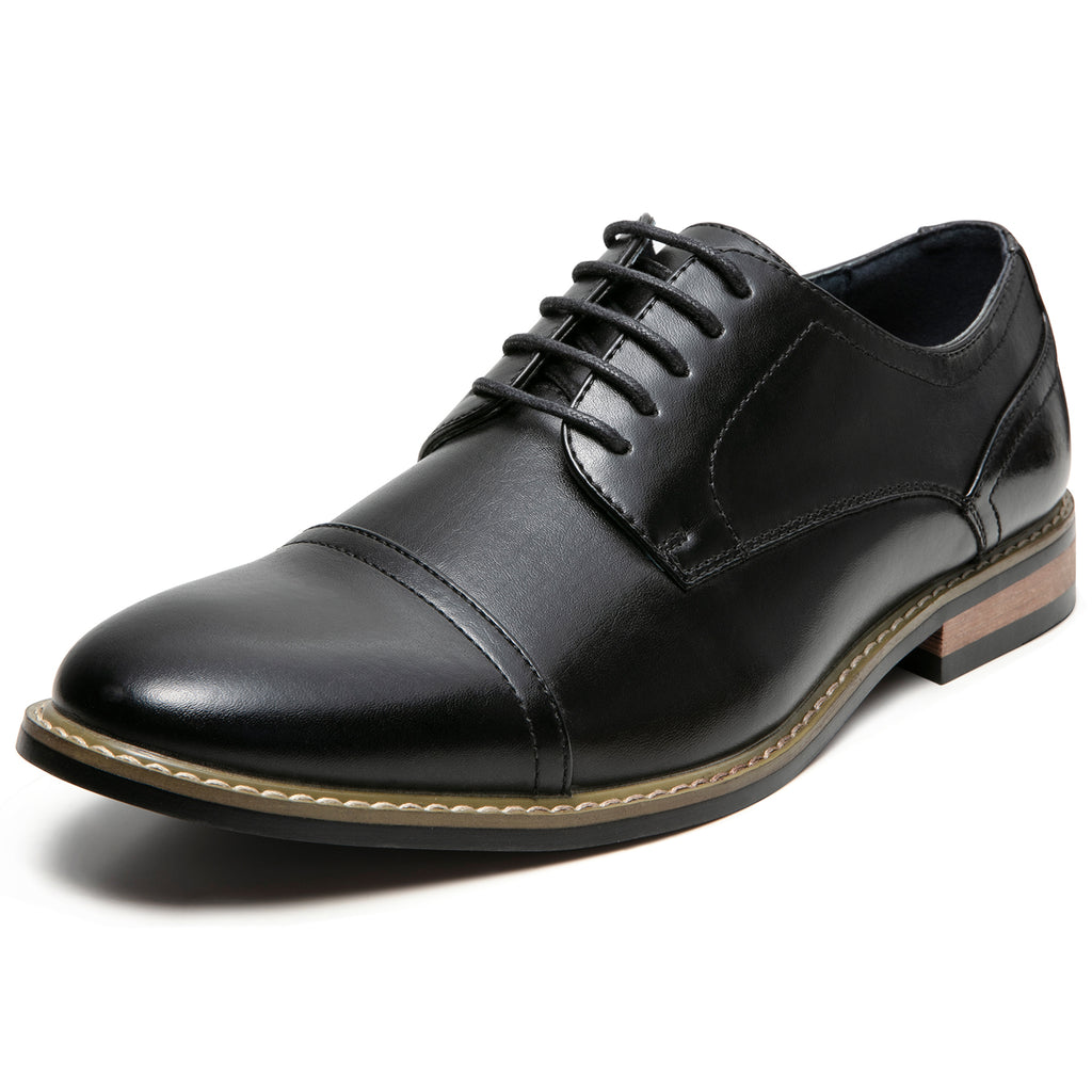 7005d8ec868da Men's Oxford Classic Cap Toe Dress Shoes Modern Lace up Leather ...