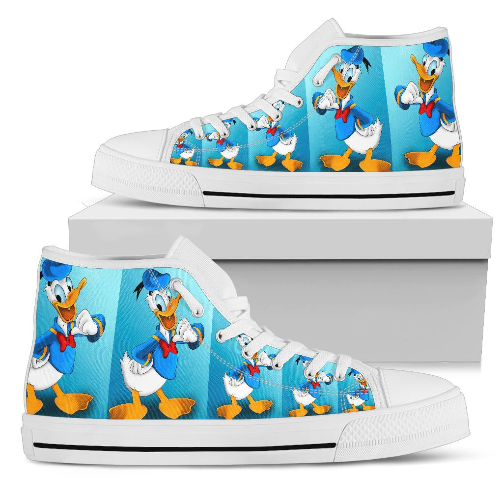Donald Duck High Top Shoe White [ Express Shipping included ]
