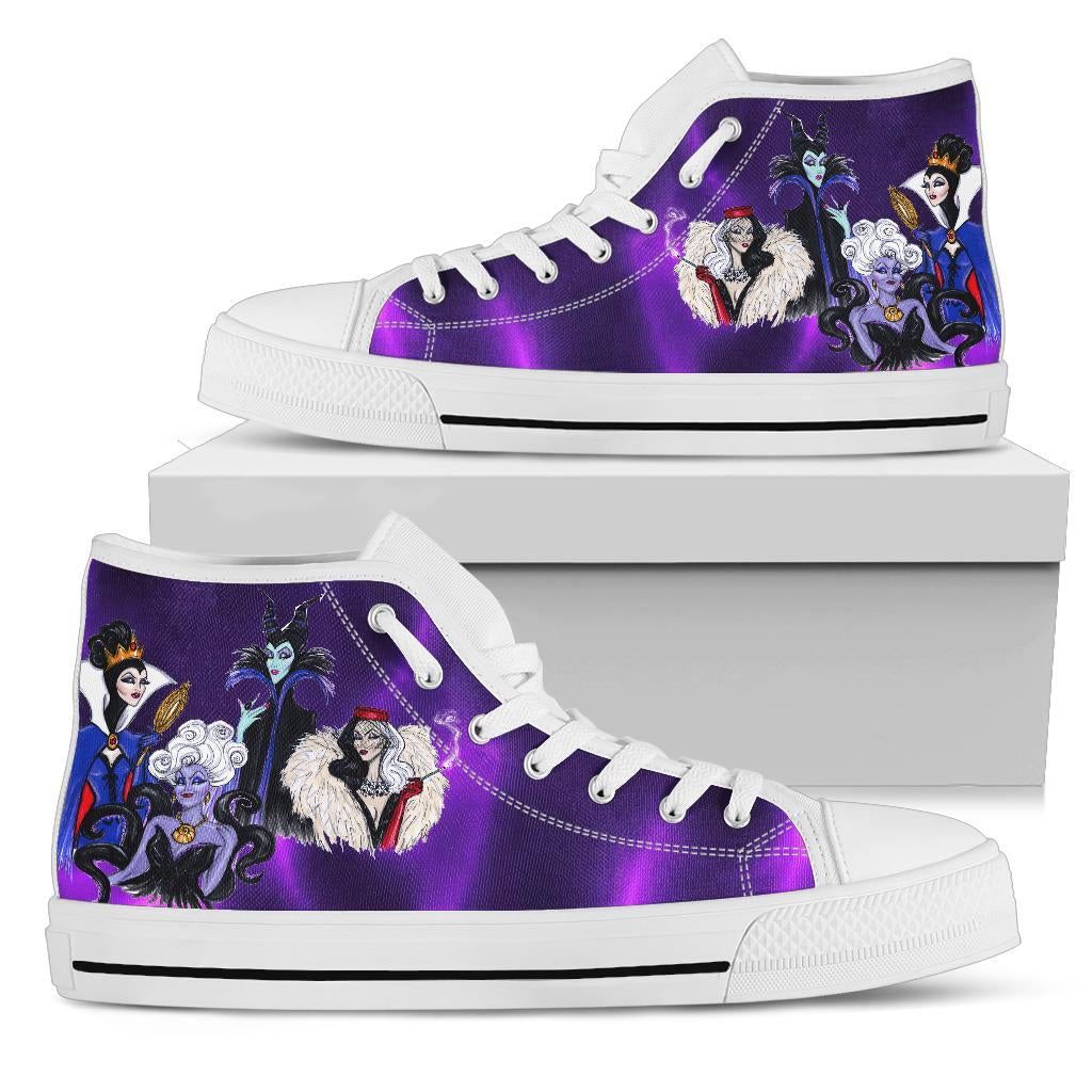 Disney Villains High Top Shoe White [ Express Shipping included ]