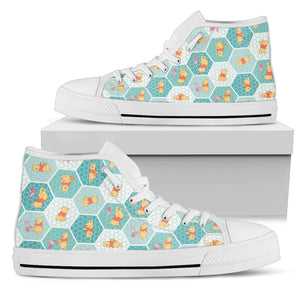 Pooh High Top Shoe White [ Express Shipping included ]