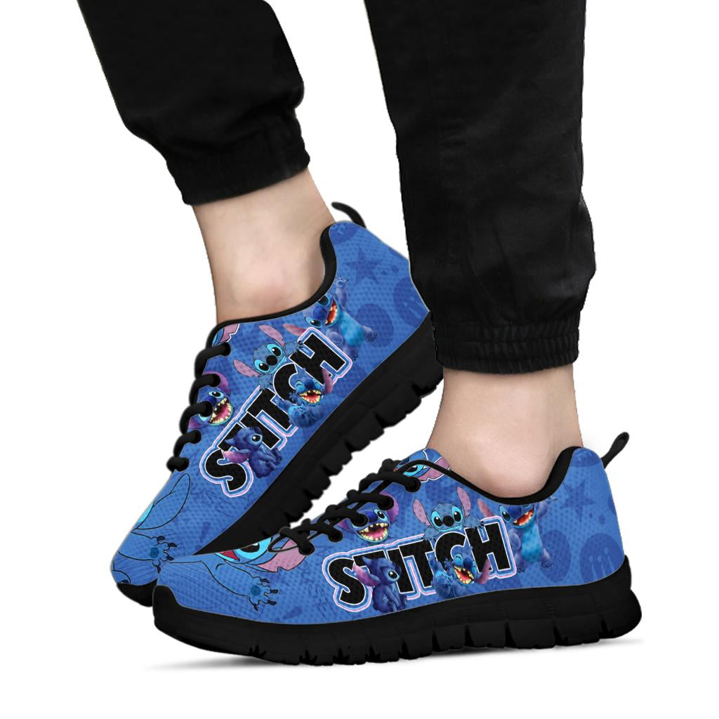 Stitch Face Sneaker Black