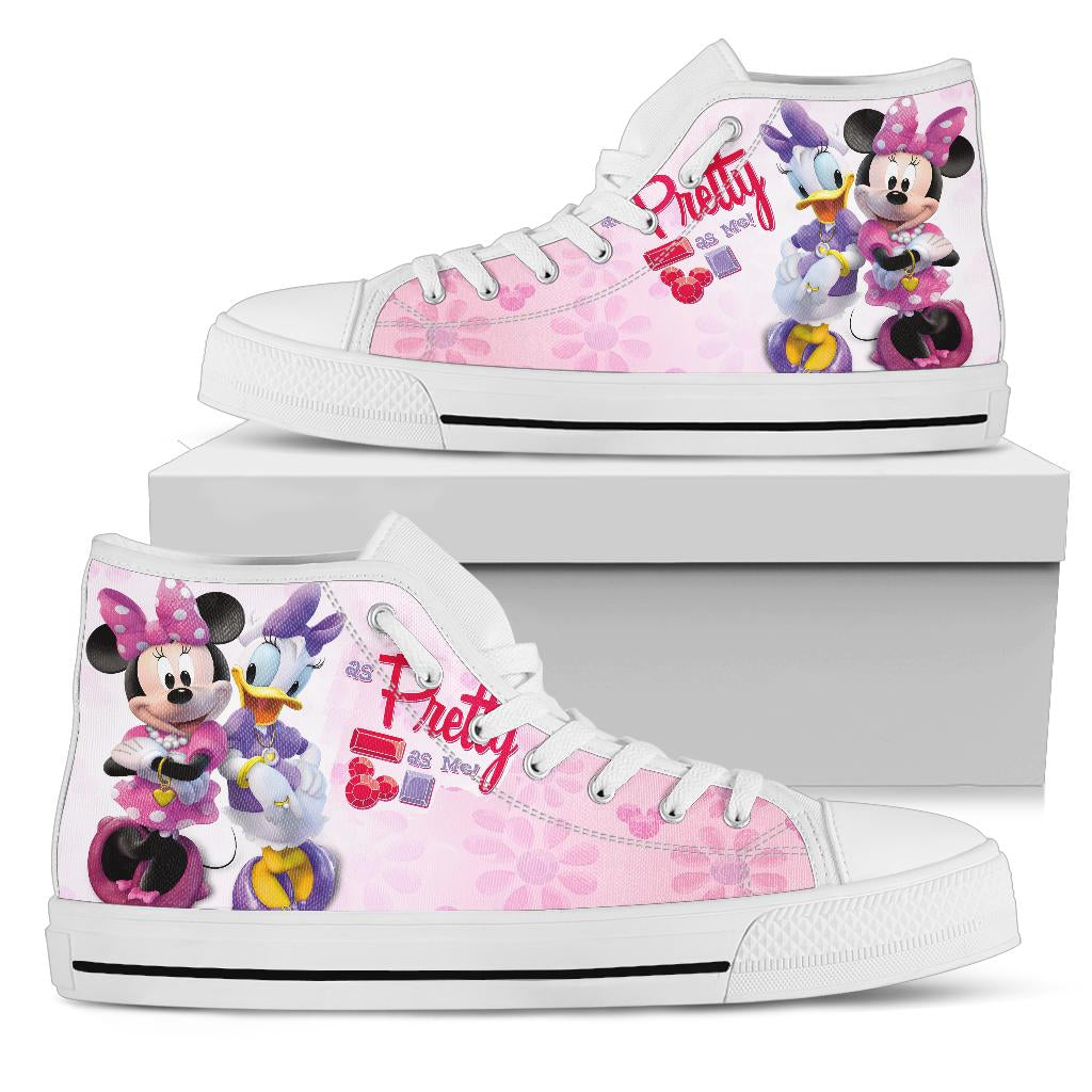 Minnie And Daisy High Top Shoe White [ Express Shipping included ]