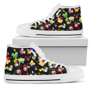 Disney Character High Top Shoe White [ Express Shipping included ]