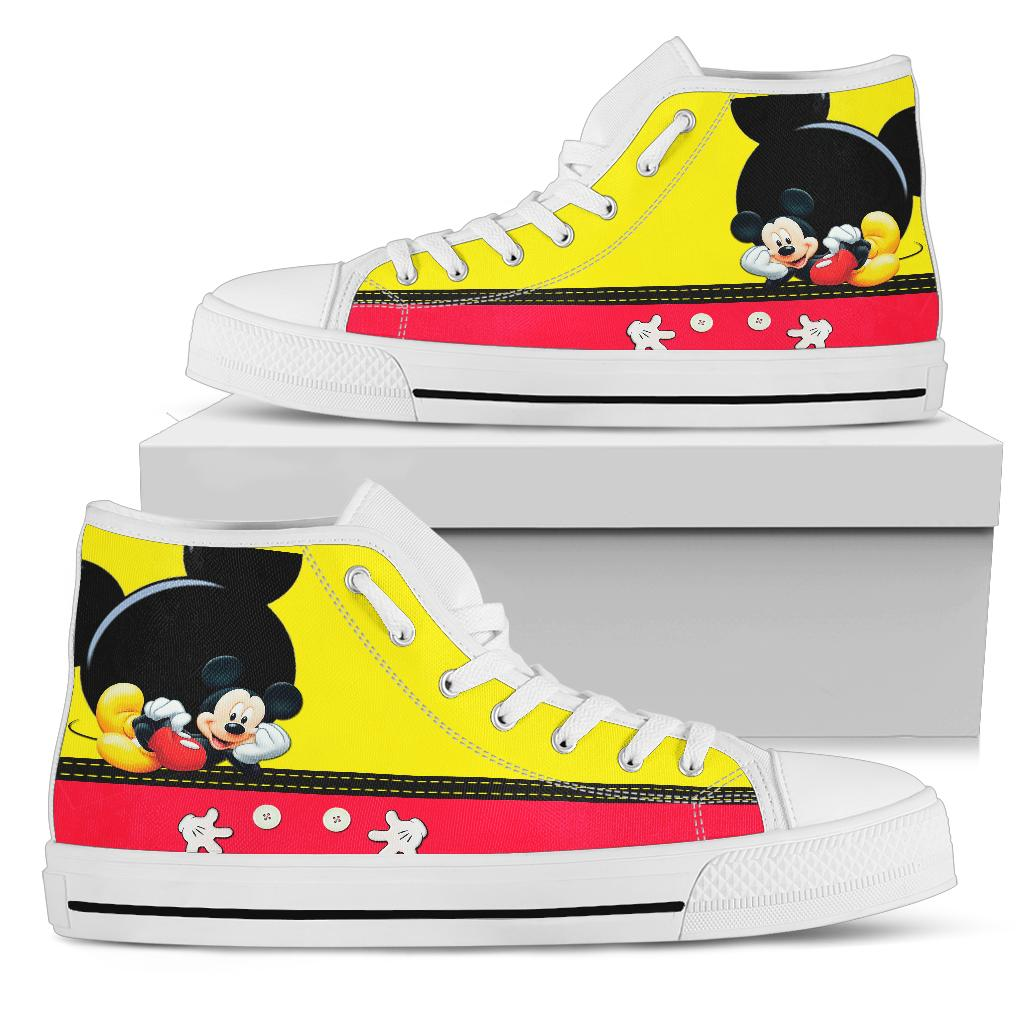 Mickey Mouse High Top Shoe White [ Express Shipping included ]