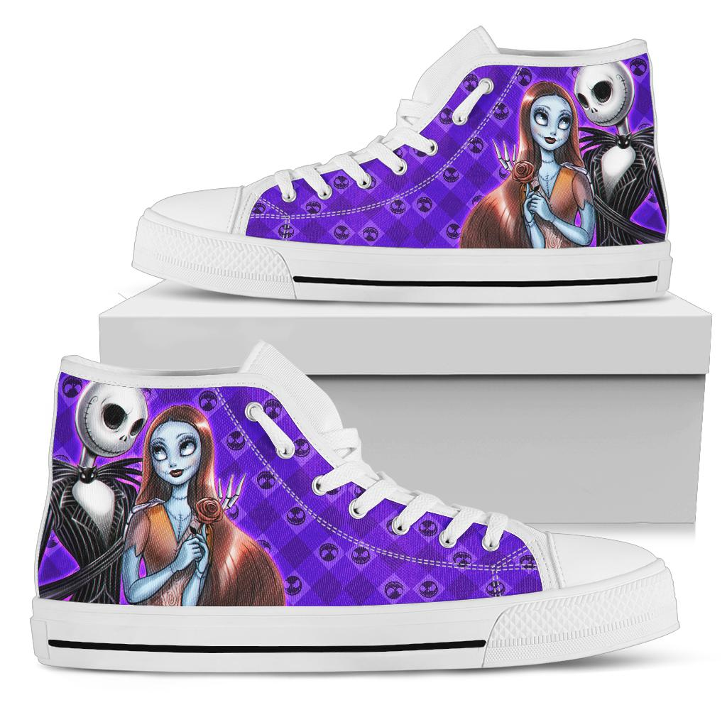 Jack And Sally High Top Shoe White [ Express Shipping included ]