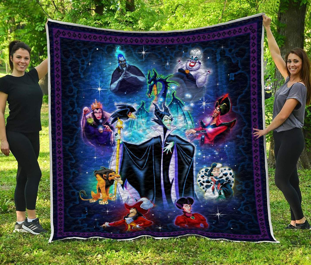 DISNEY VILLAINS ART - Premium Quilt