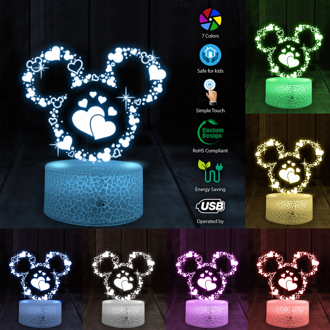 Mk Love 3D led light