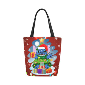 Stitch Tree Christmas Canvas Tote Bag (Model 1657)