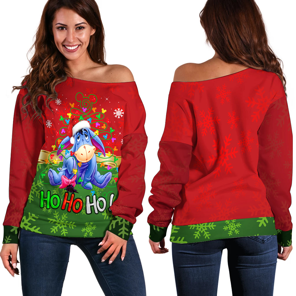 Eeyore Hohoho Sweater shoulder