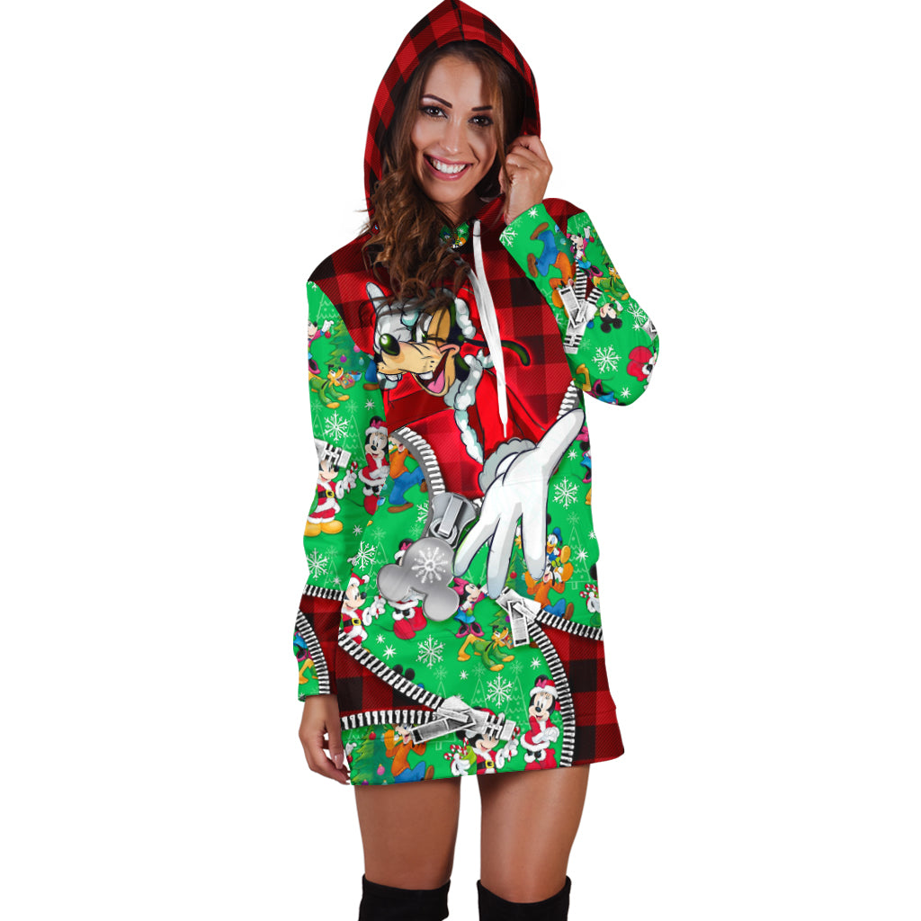 Goofy Christmas Hoodie Dress